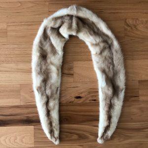 Vintage mink fur collar
